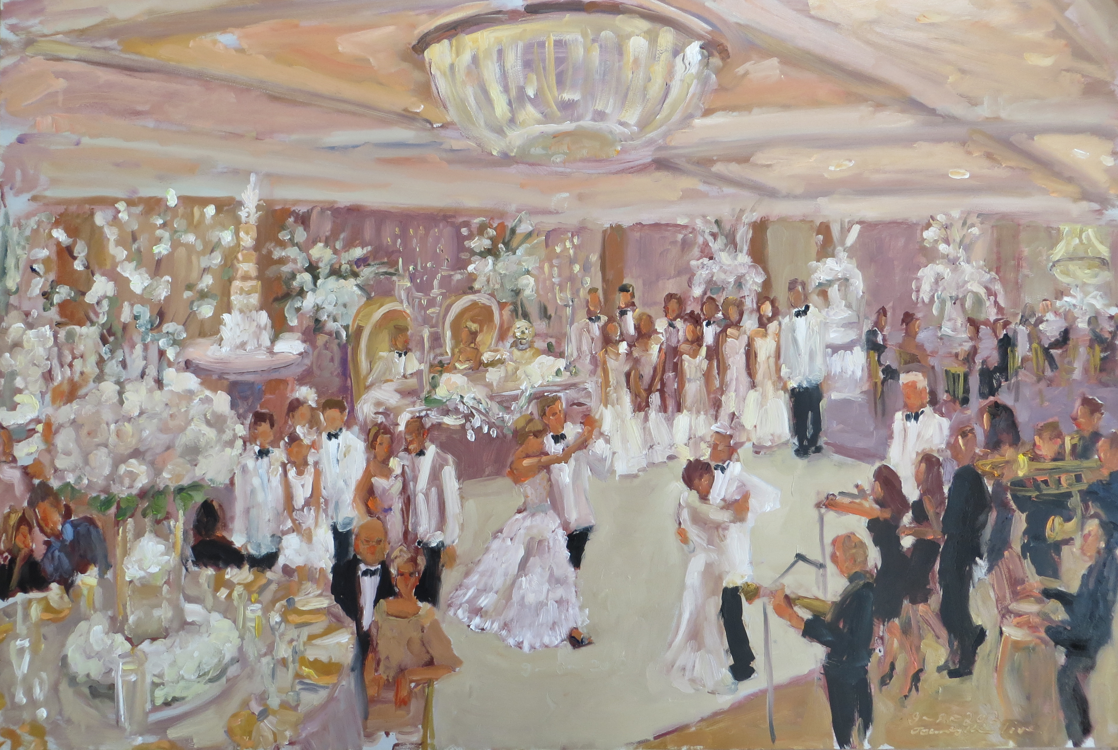 live wedding painting by live event artist joan zylkin