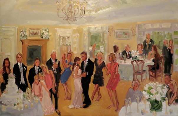 Live Event Painting at a Baltimore Wedding at the Spring Valley Hunt Club by Joan Zylkin The Event Painter