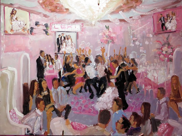 Bat Mitzvah painting NJ B'nai Tikvah by Live Event Painter Joan Zylkin