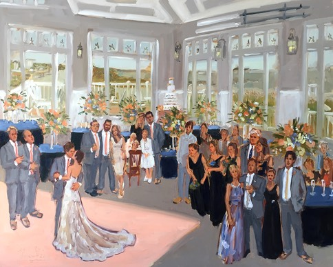 Delaware Wedding live event painting at Lewes Yacht Club