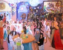 Live Event Painting at Bar Mitzvah Ocean City