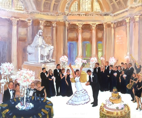 Franklin Institute Wedding, Live Event Painting Philadelphia, The Event Painter
