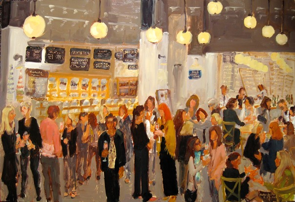 make corporate events memorable.  Live event painter Joan Zylkin creates a painting of your event - while it is happening - and your guests become a part of the painting… an experience they will never forget.
