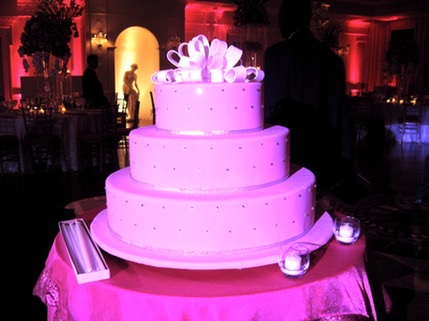 Bat Mitzvah cake in pinks