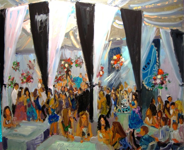 live event painting at Bar Mitzvah Temple B'nai Tikvah NJ