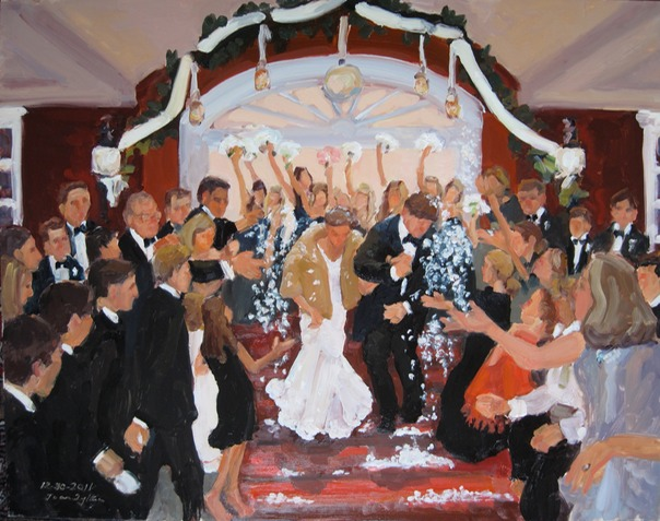 Wedding painting from photographs by Joan Zylkin The Event Painter