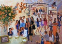 live event painting for the publisher of Mitzvah Market at her son's Bar Mitzvah on Long Island.
