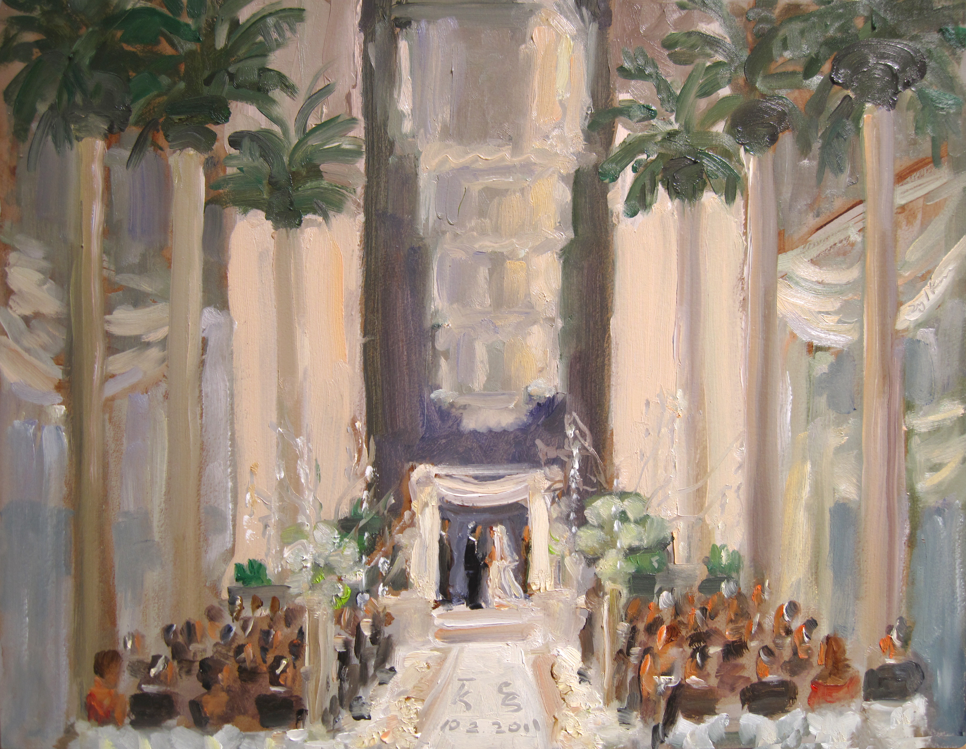 wedding ceremonies painted live by the event painter joan