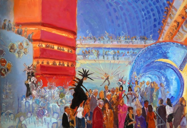 WEDDINGS AND SPECIAL EVENTS AT THE KIMMEL CENTER: painting created live at the  PIFA 2013 GALA by Joan Zylkin The Event Painter