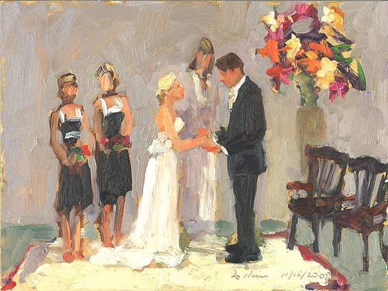 Wedding Painting by Joan Zylkin The Event Painter.