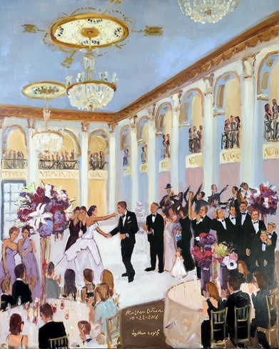 Weddings at The Ben, Weddings Ballroom at the Ben, Live Event Painting, The Event Painter, Live artist paints weddings