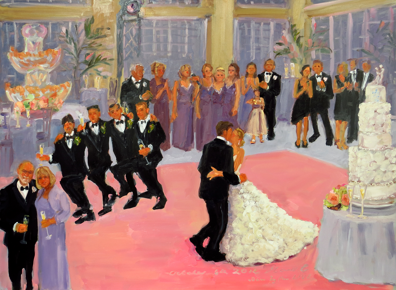 live event artist paints live at weddings joan the event